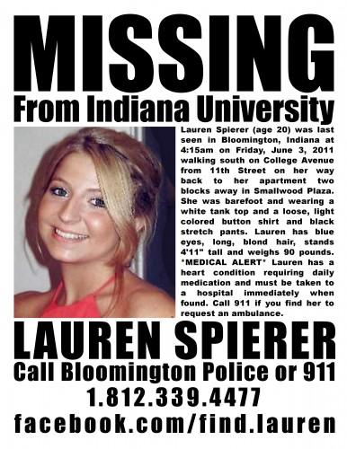 Missing IU Student Lauren Spierer