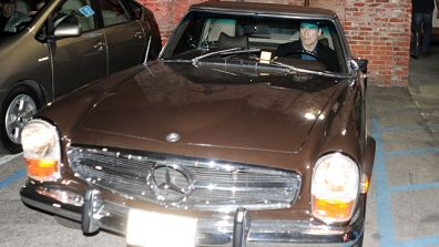Travolta In His Vintage Benz