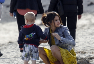 Selena Gomez (Upskirt At The Beach)